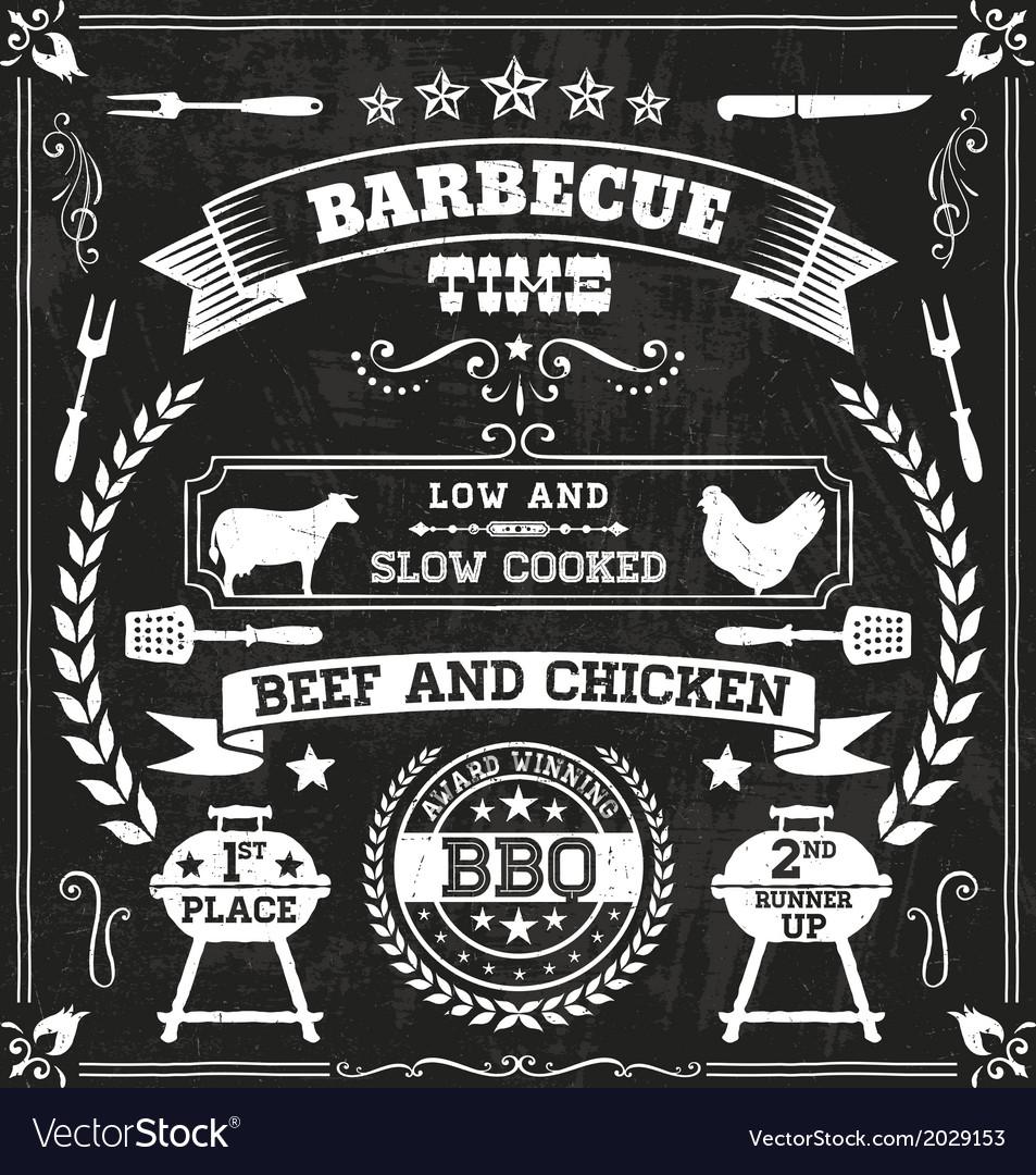 BBQ Chalkboard vector image