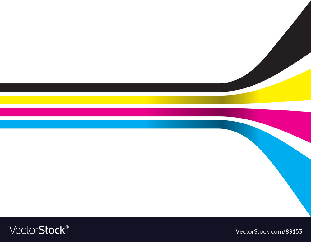 CMYK color strips vector image