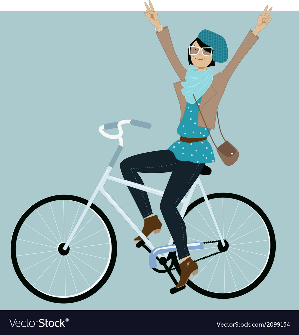 Riding a bike vector image