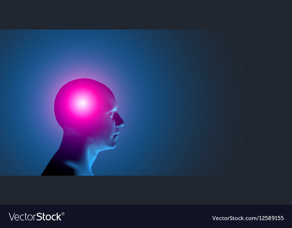 Healthcare and migraine concept - vector image