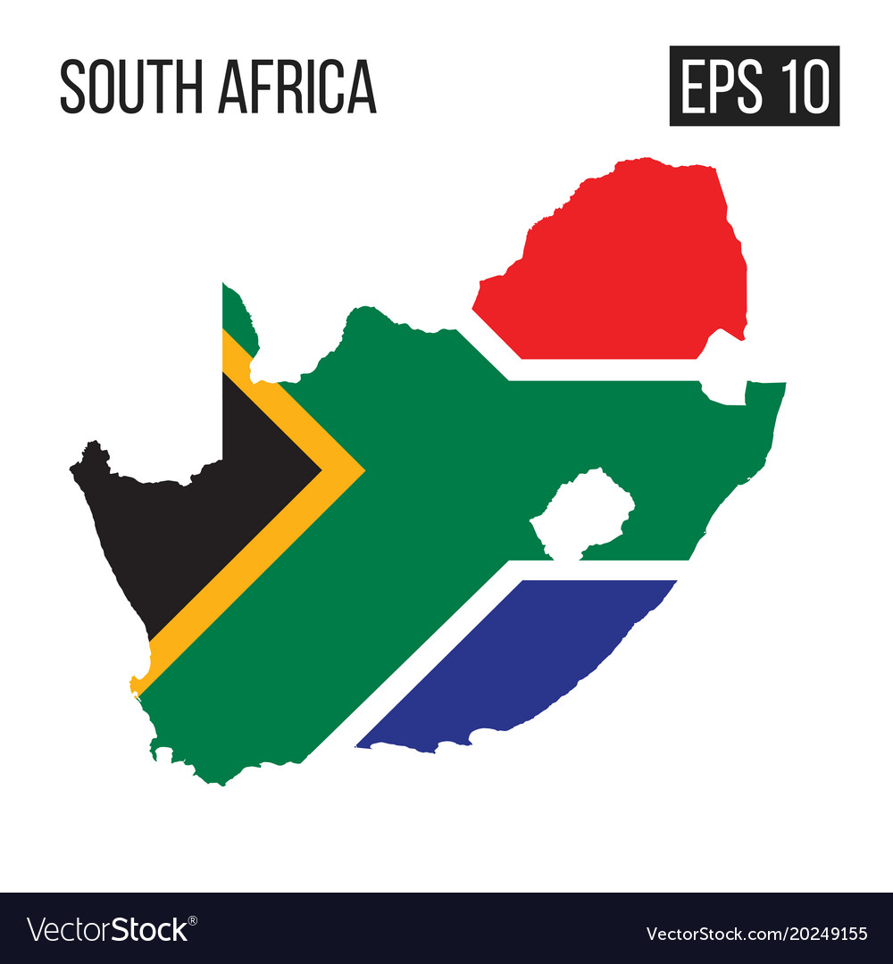 South africa map border with flag eps10 royalty free vector south africa map border with flag eps10 vector image sciox Choice Image