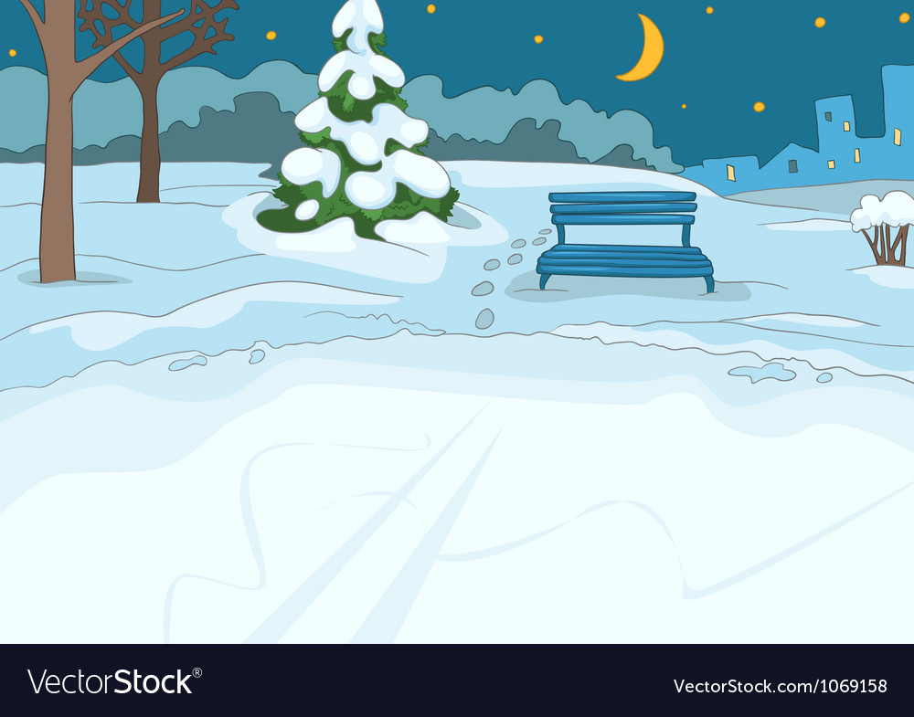 Outdoor Skating Rink vector image