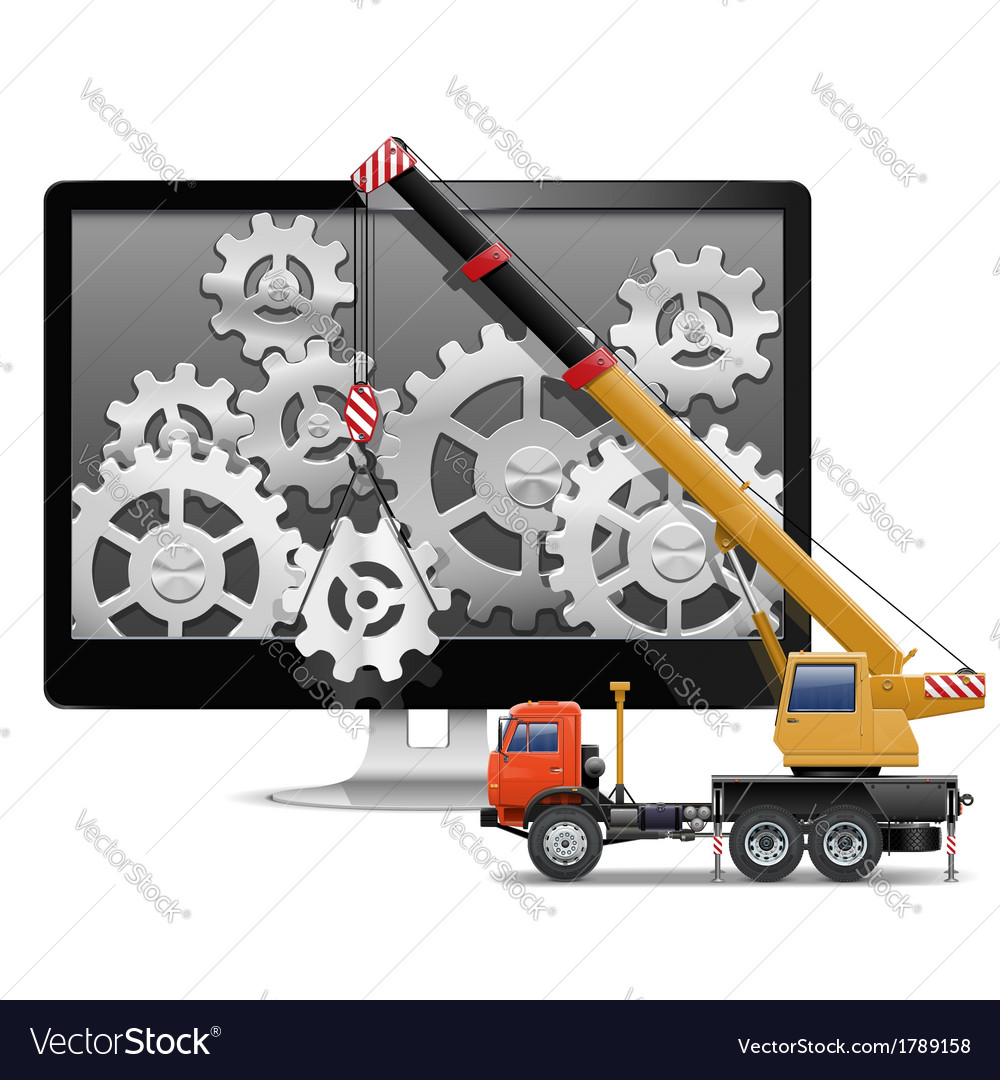 Computer Repair Concept vector image