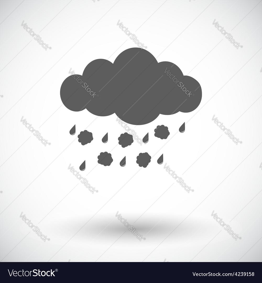 Hagel single icon vector image