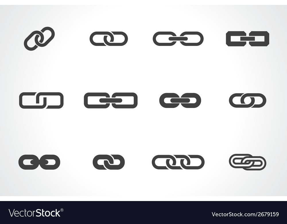 Icons of link vector image