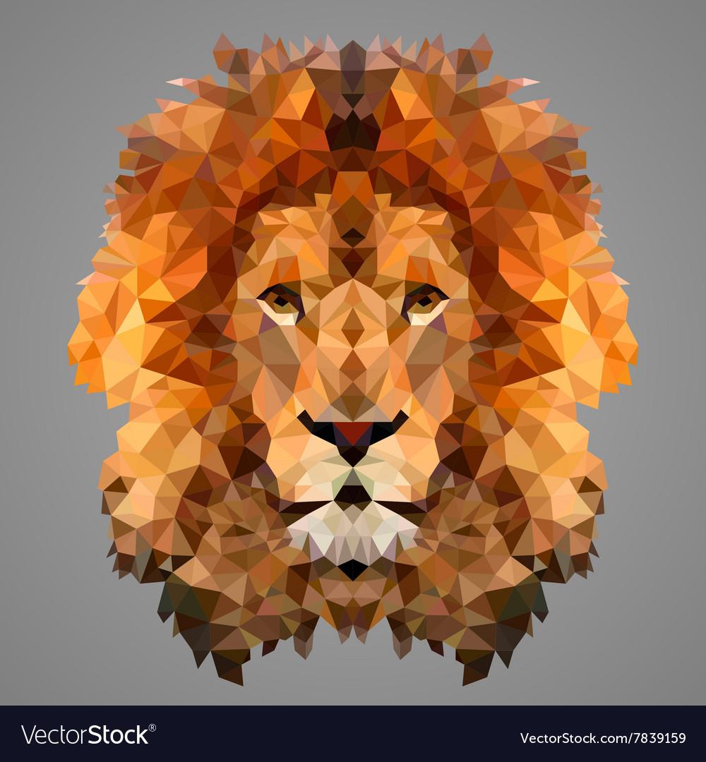 Lion low poly portrait vector image