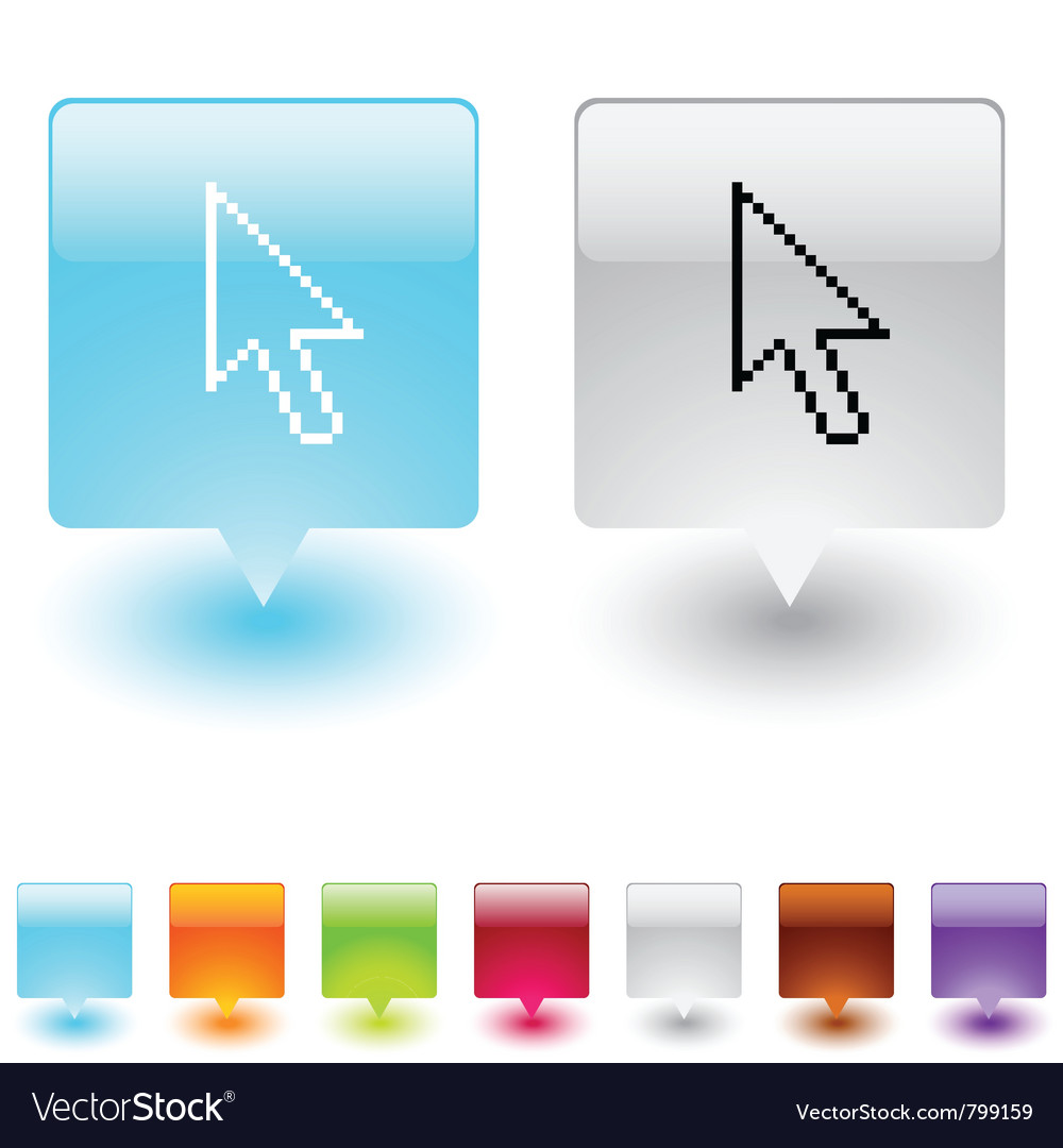 Money exchange square button vector image