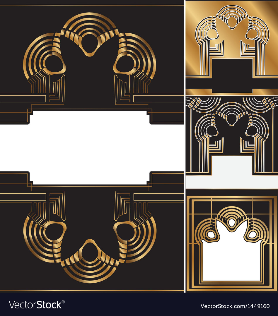 Art deco background vector image