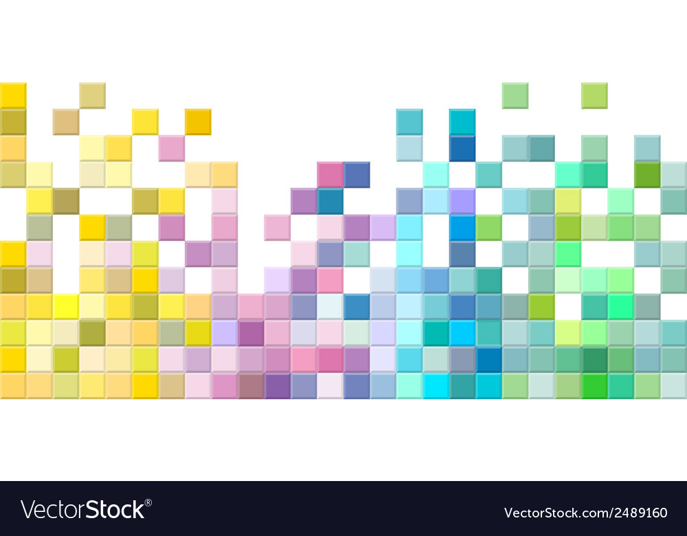 Abstract square pixel mosaic background vector image