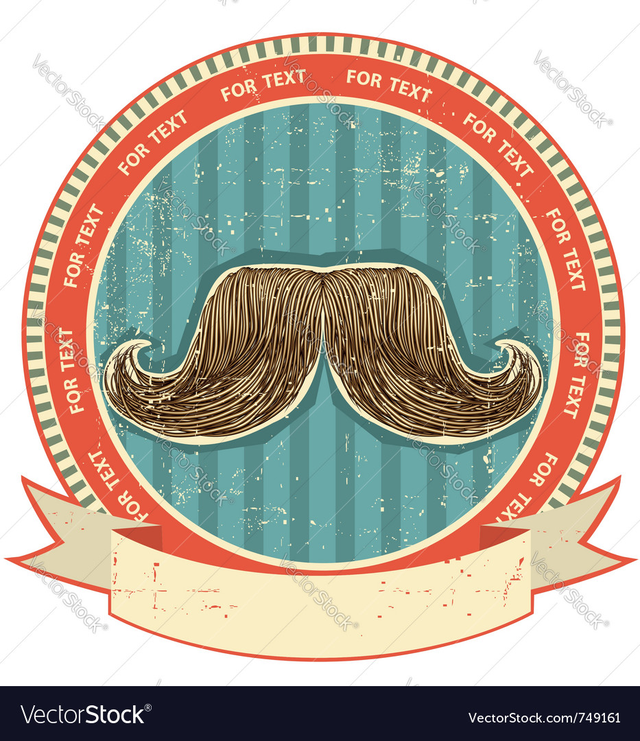 Mustaches symbol vector image