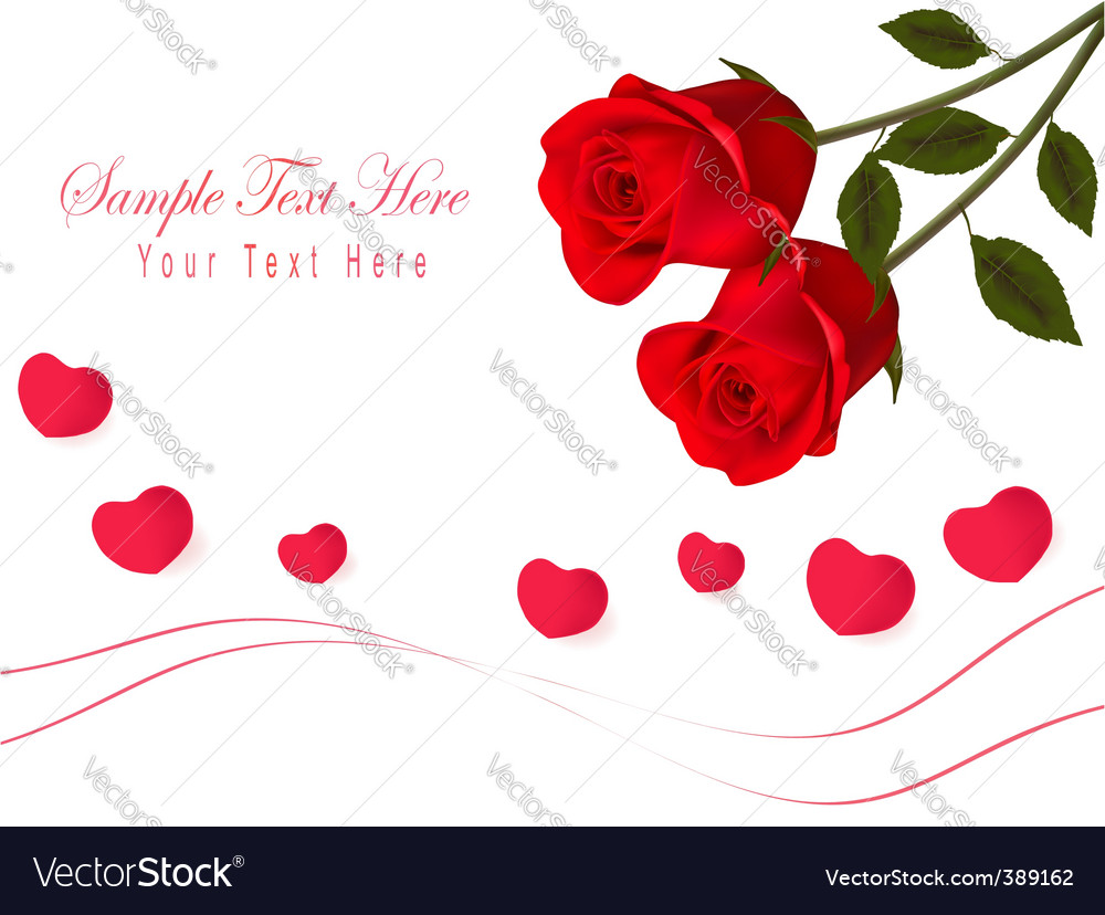 Gift card with valentine day vector image