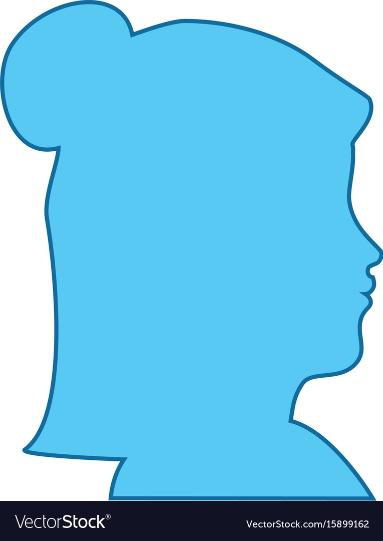 Isolated blue women face vector image