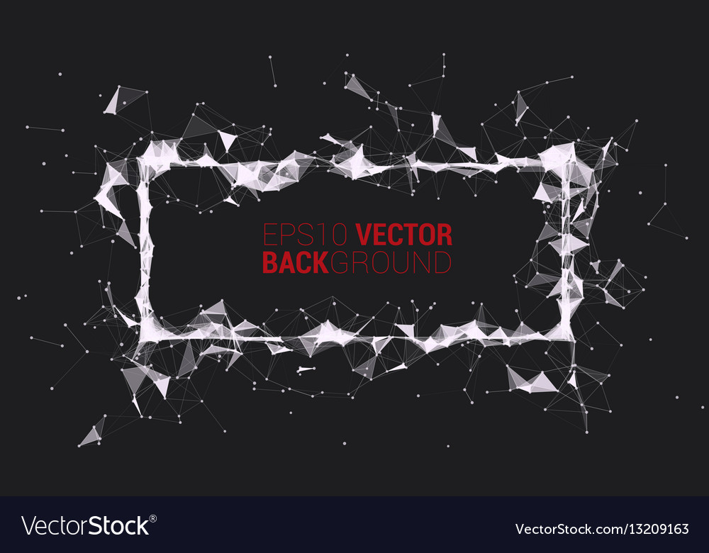 Creative triangle frame vector image