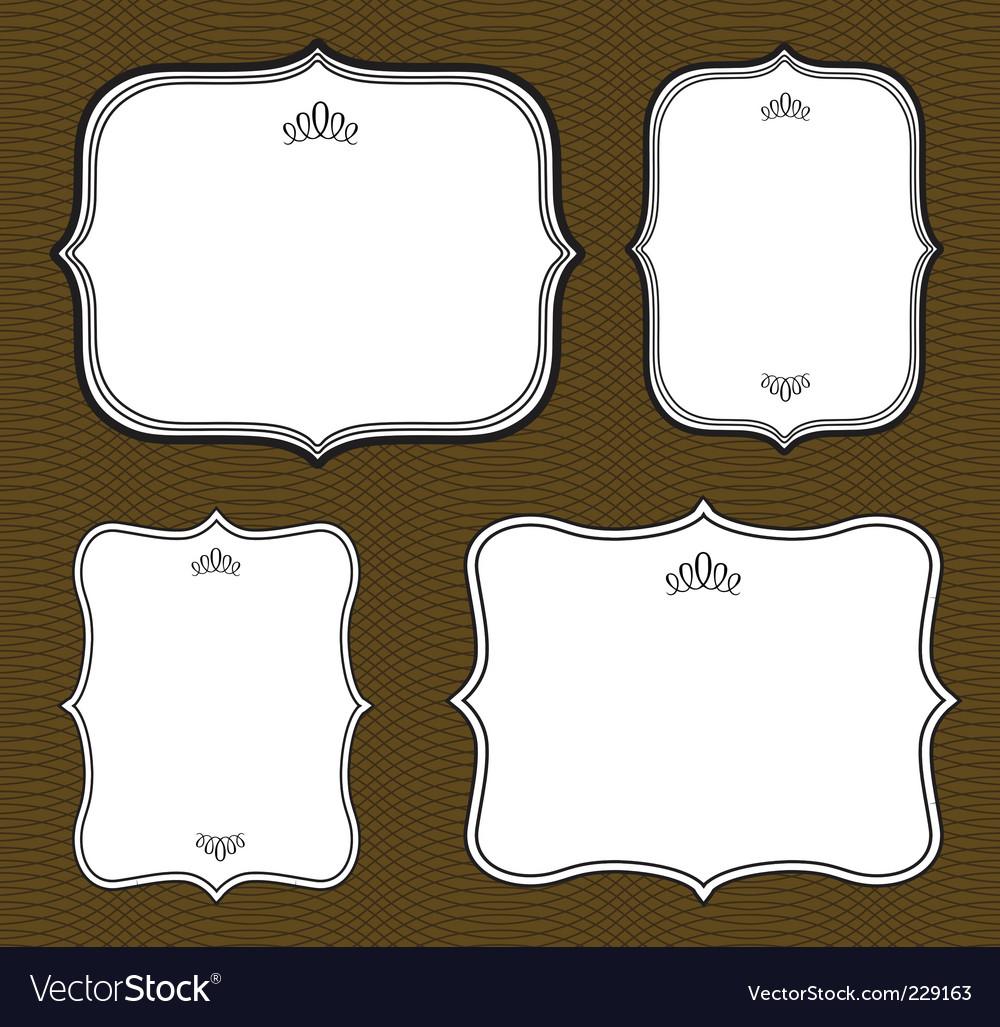 curved frame set royalty free vector image  vectorstock - curved frame set vector image