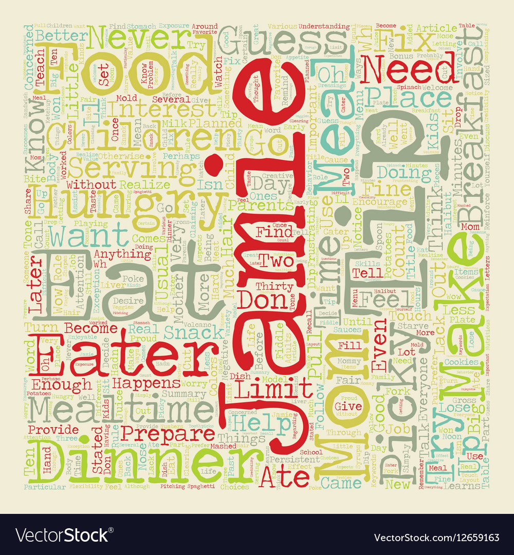 So You Have A Picky Eater text background vector image