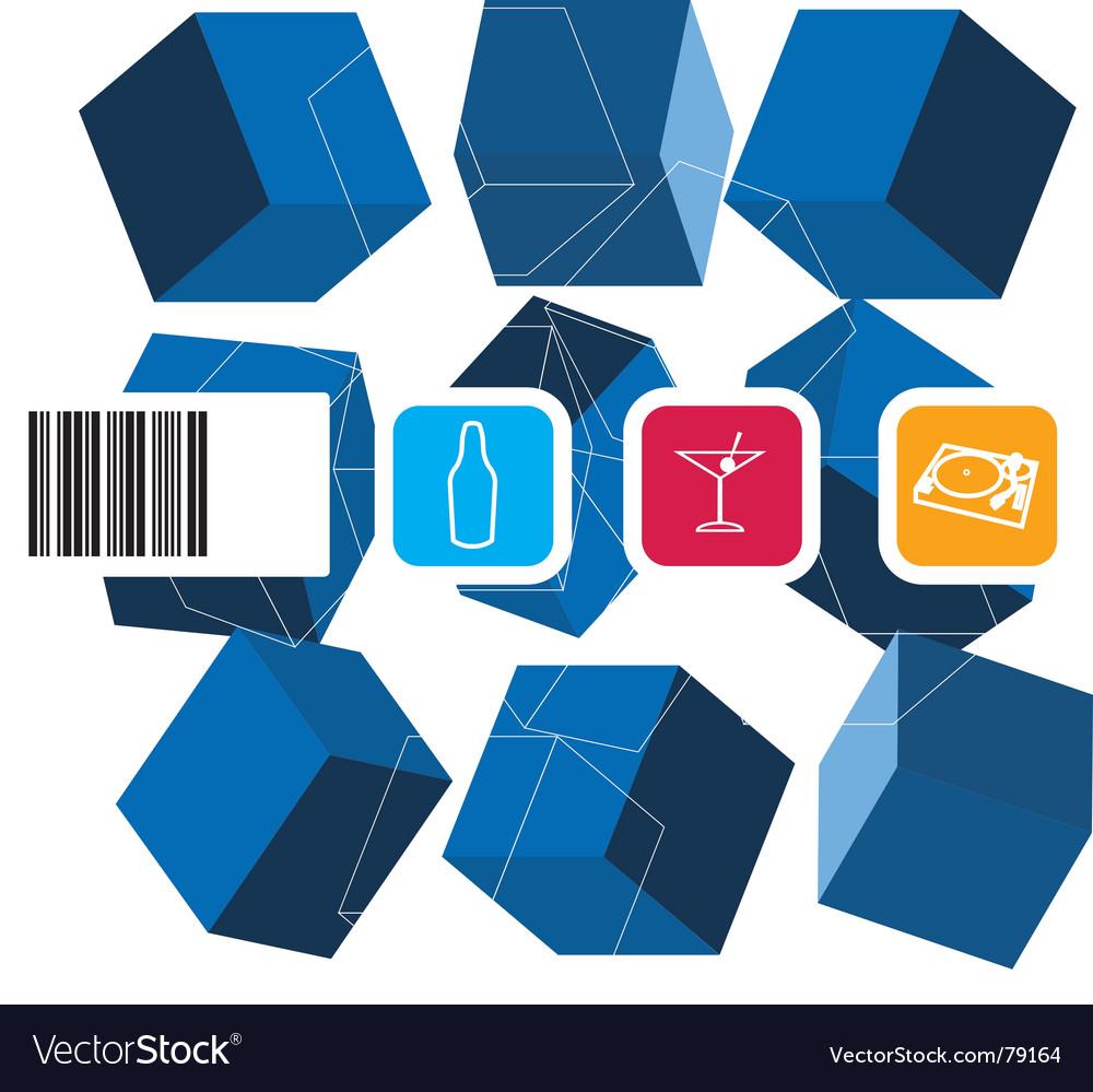 Modern label vector image
