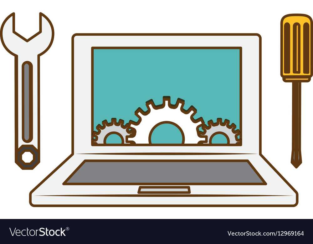 Online technical service abstract image vector image