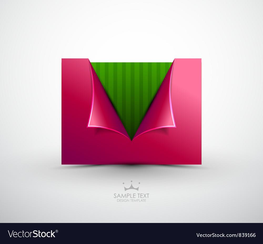 Opening envelope background vector image
