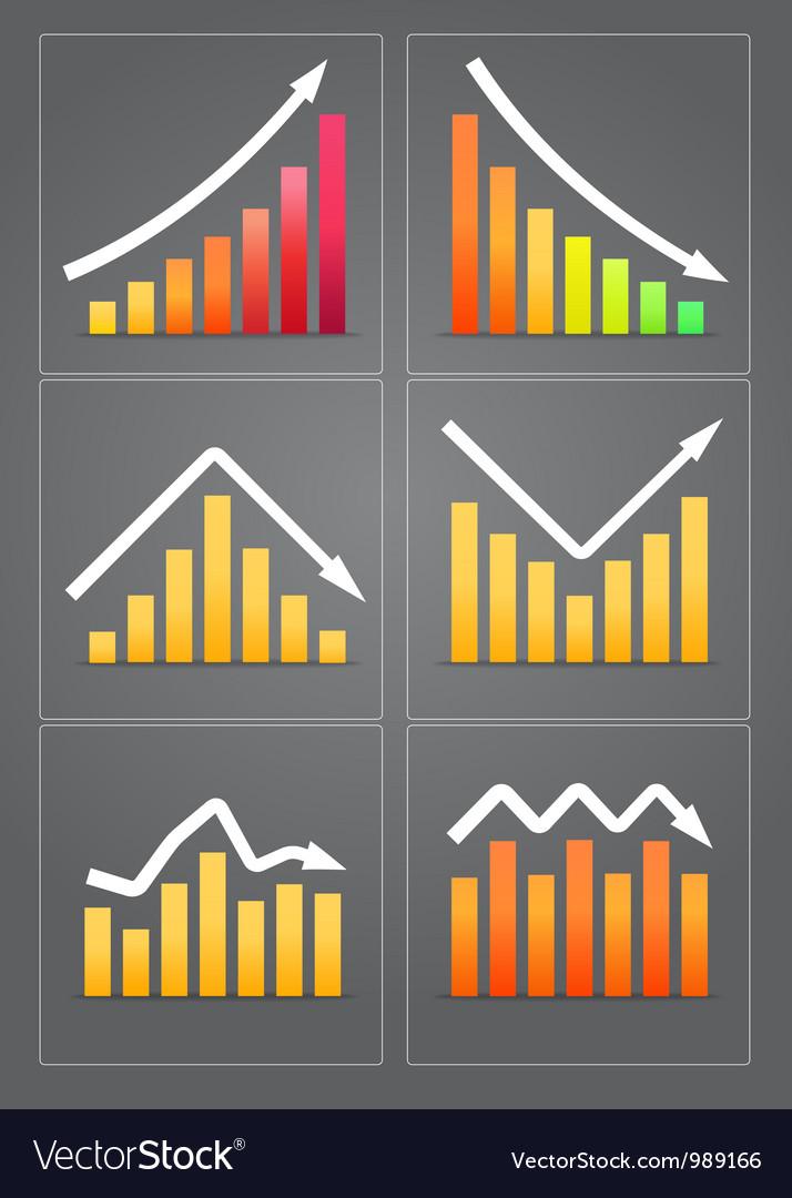 Business revenue charts vector image