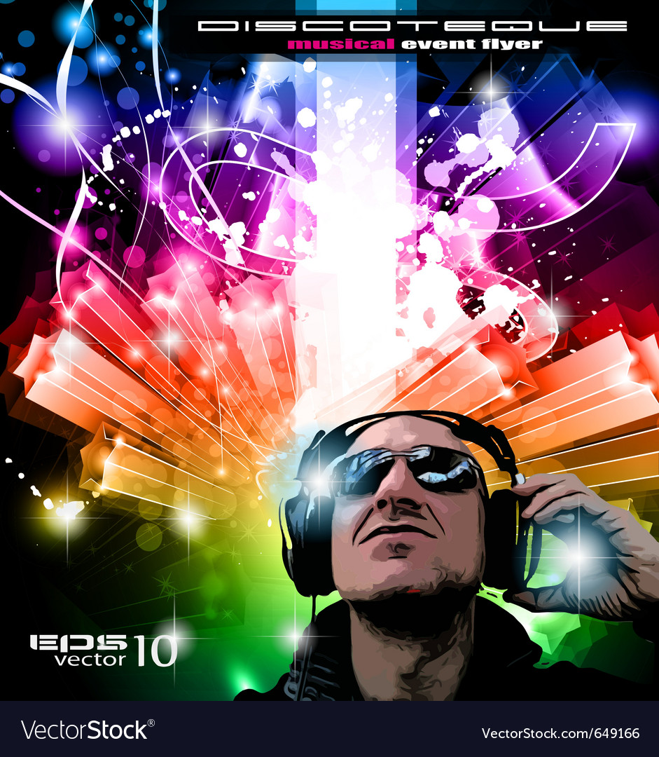 Dj poster vector image