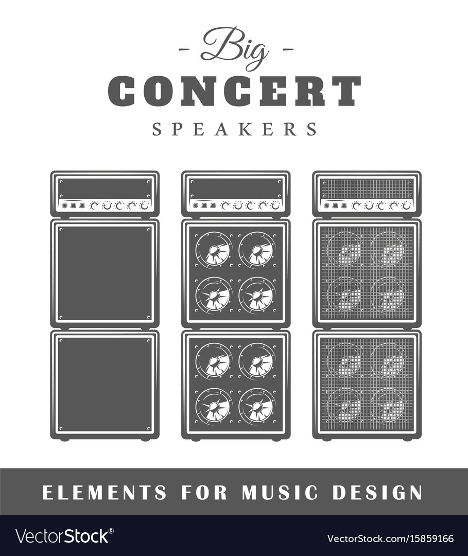 Professional live music speaker vector image