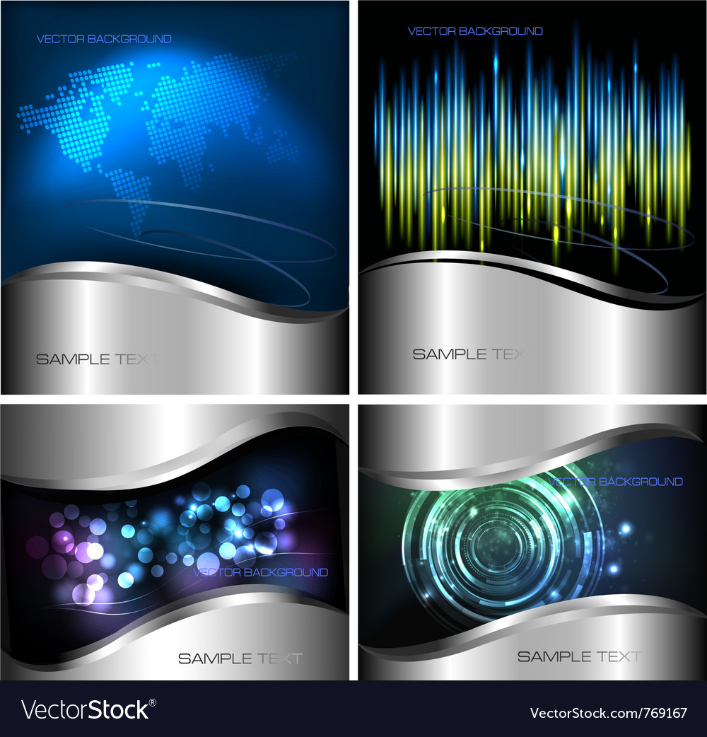 Abstract technology backgrounds vector image
