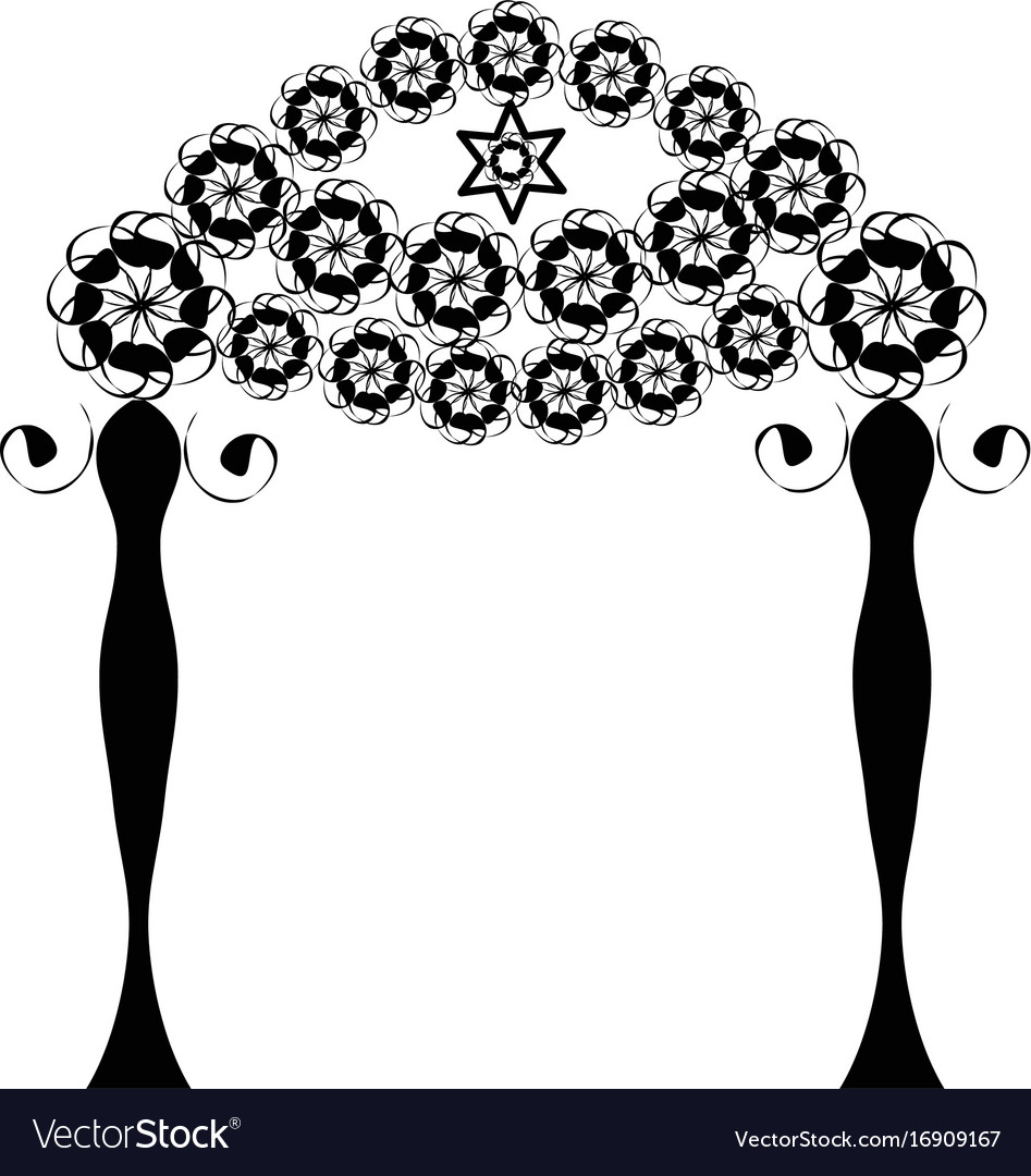 Vintage graphic chuppah jewish wedding canopy for vector image  sc 1 st  VectorStock & Vintage graphic chuppah jewish wedding canopy for Vector Image