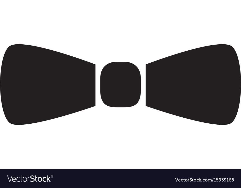 Butterfly tie icon on white background butterfly vector image
