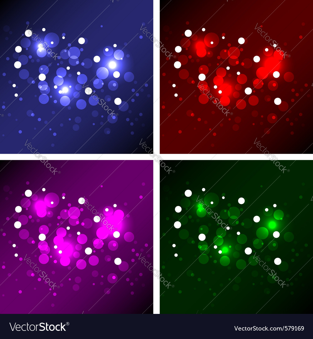 Magic backgrounds vector image