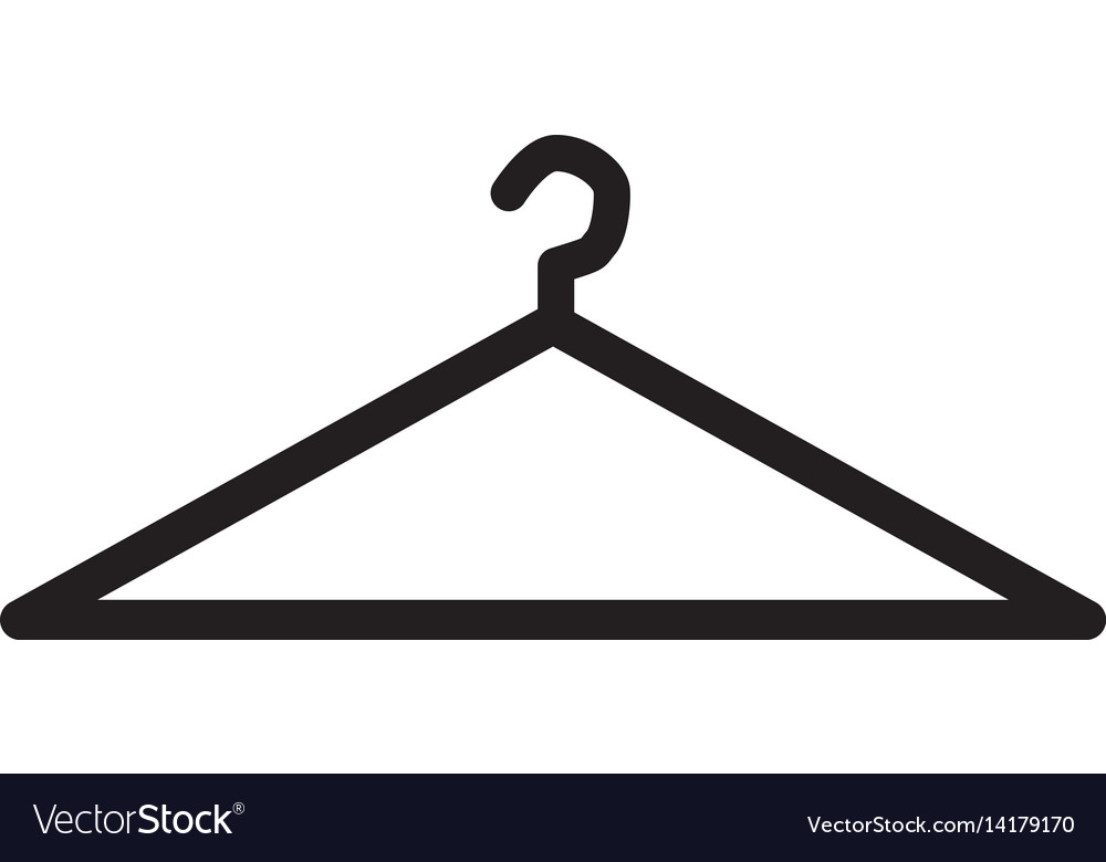 Hanger icon flat design style hanger sign vector image