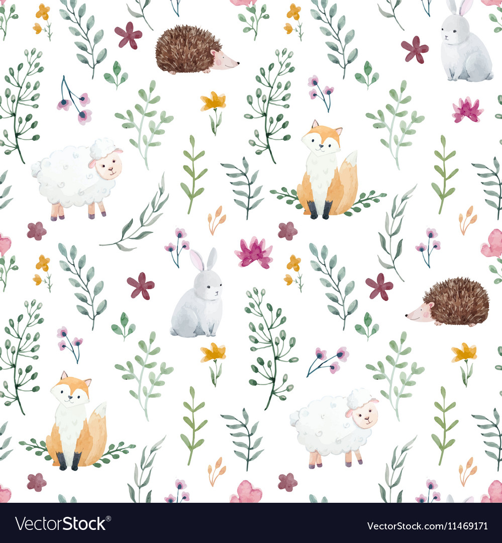 Watercolor pattern for children vector image