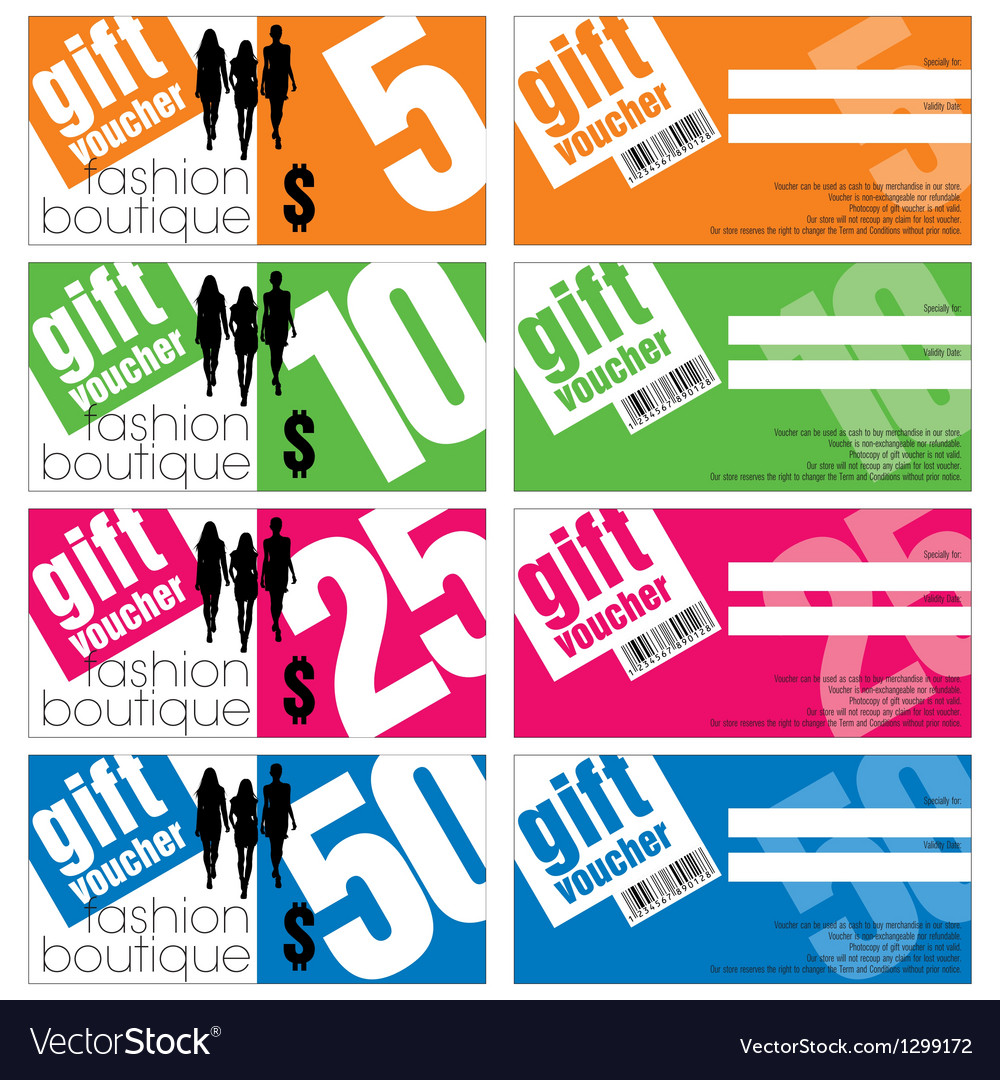 Gift Vouchers Set vector image