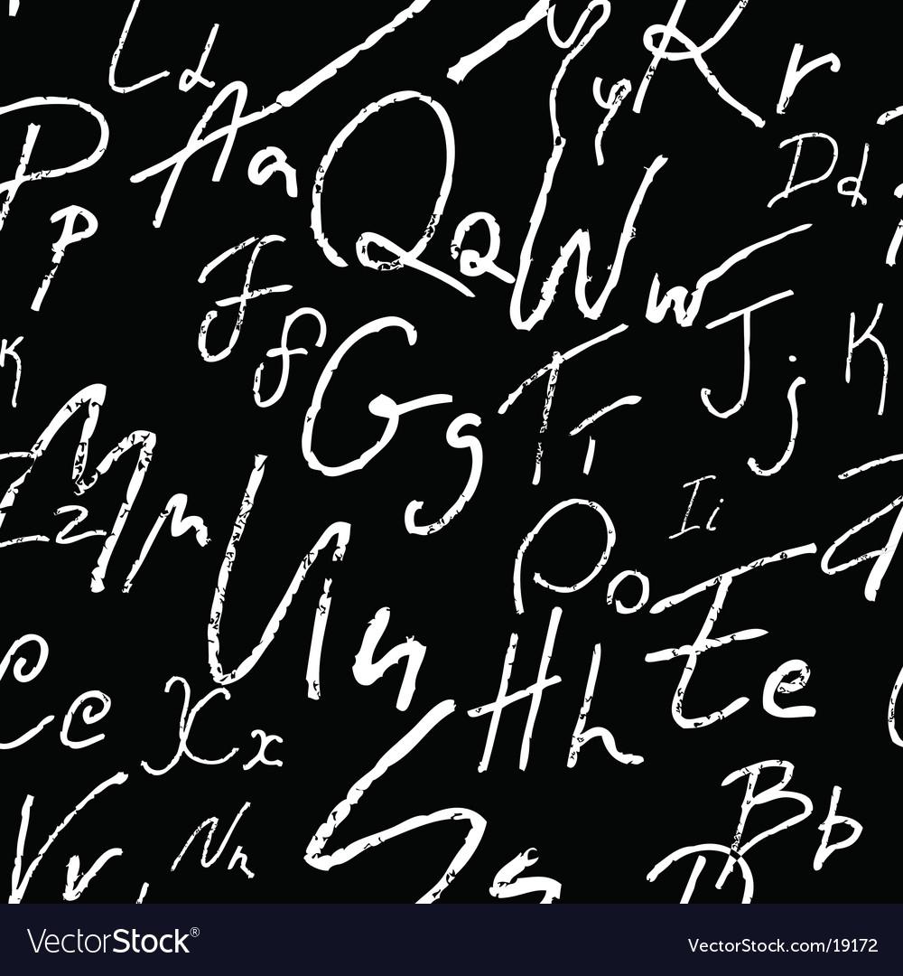 Seamless alphabet vector image