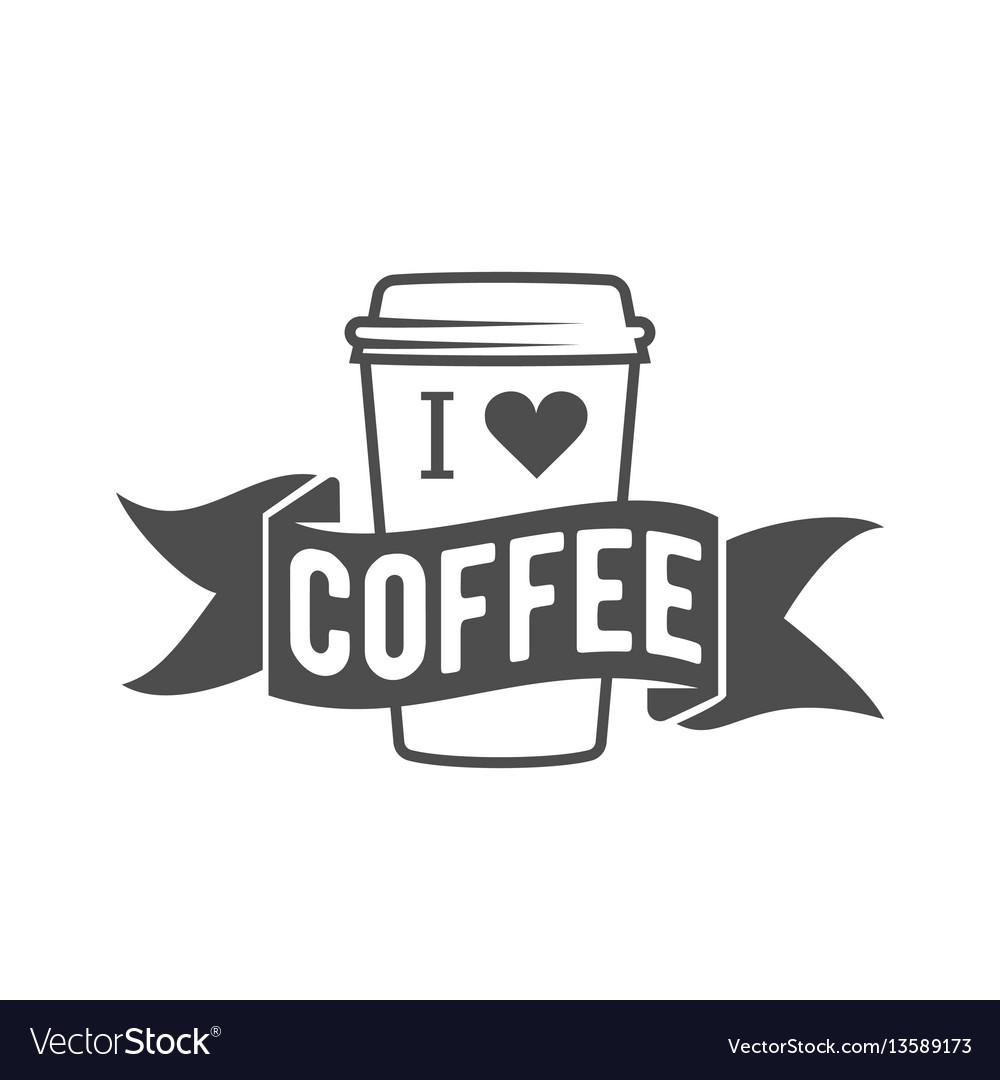 Vintage coffee badge logotyp vector image