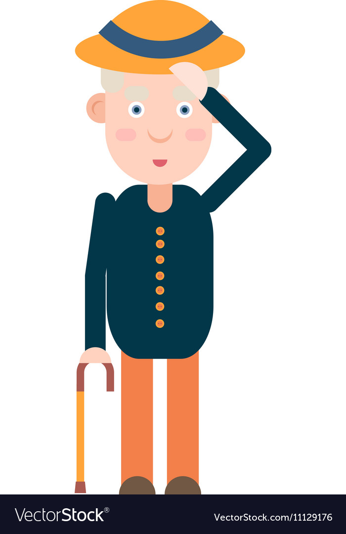 Elderly gentleman greets vector image