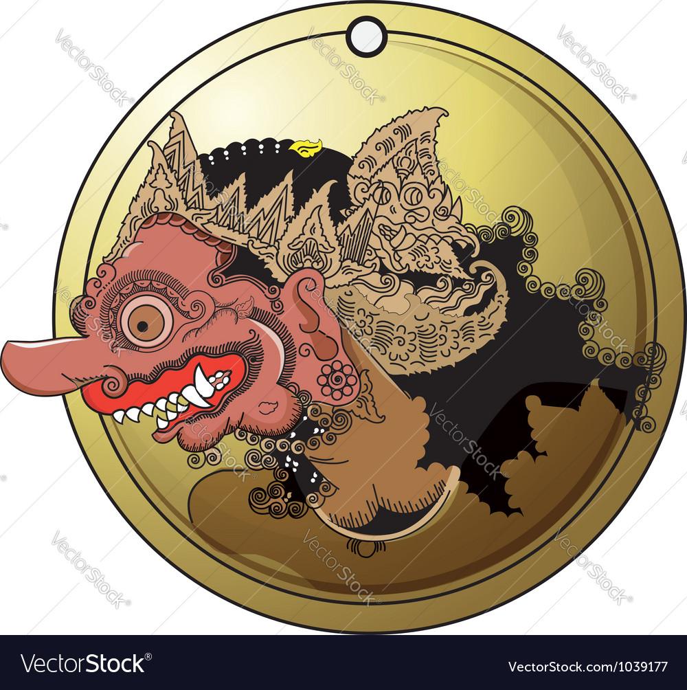 Wayang buto vector image