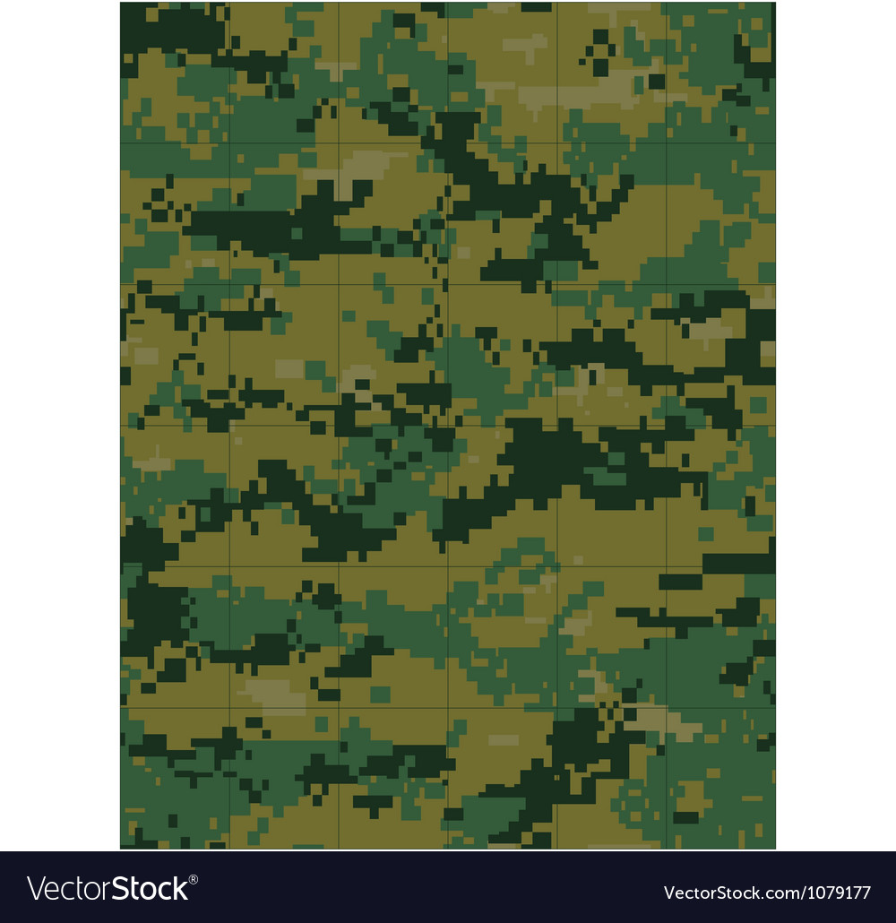 Military camouflage tileable vector image