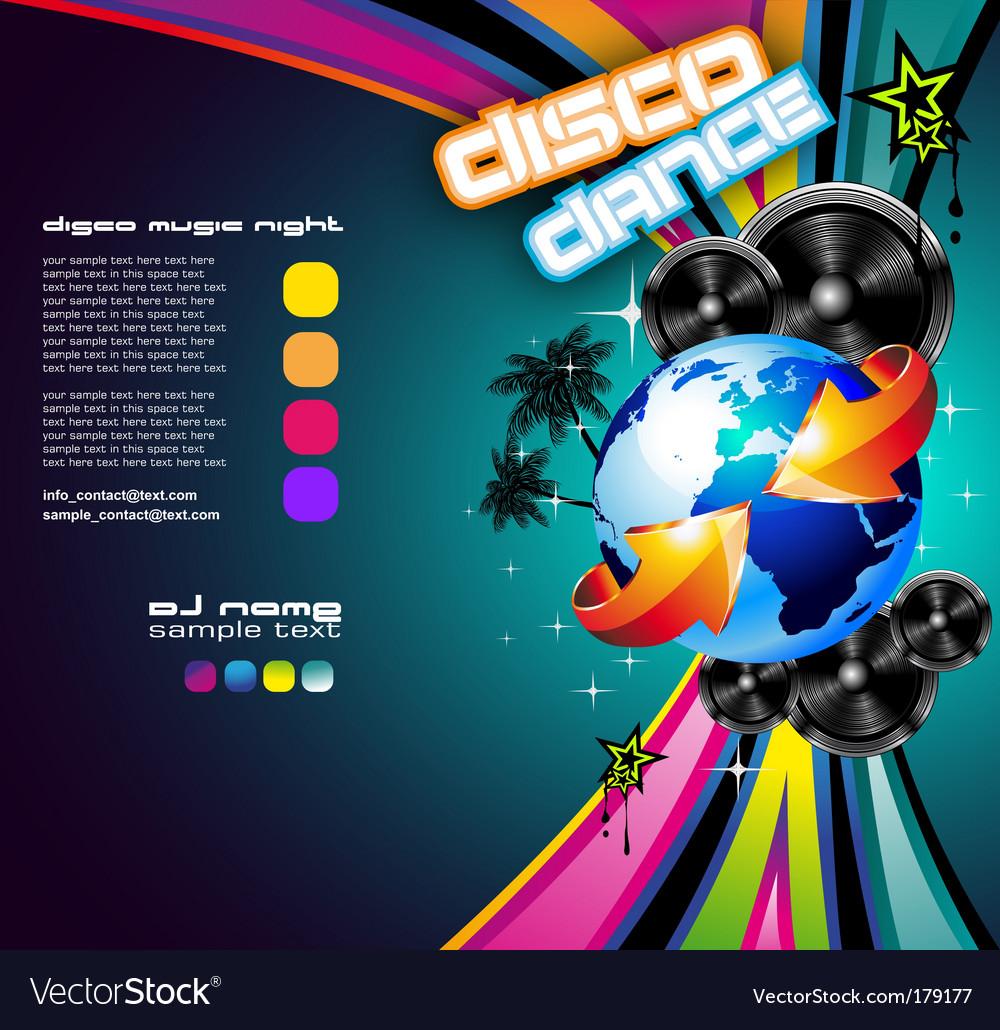 International music event vector image