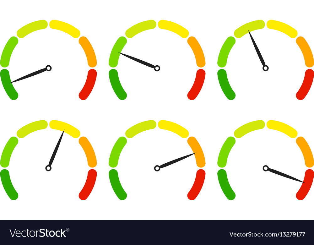 Set of measuring icons easy normal hard vector image