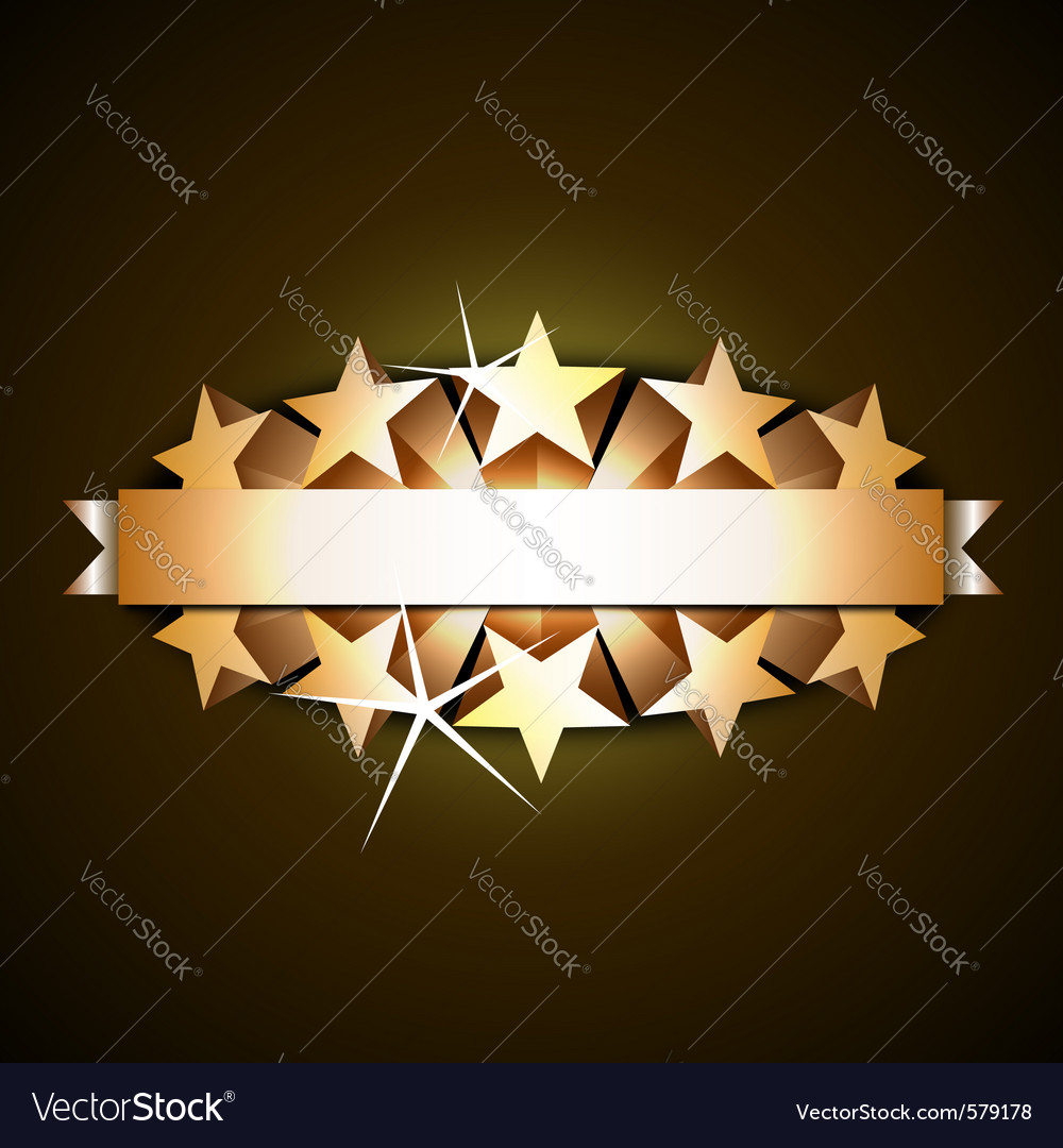 Shiny ribbon vector image