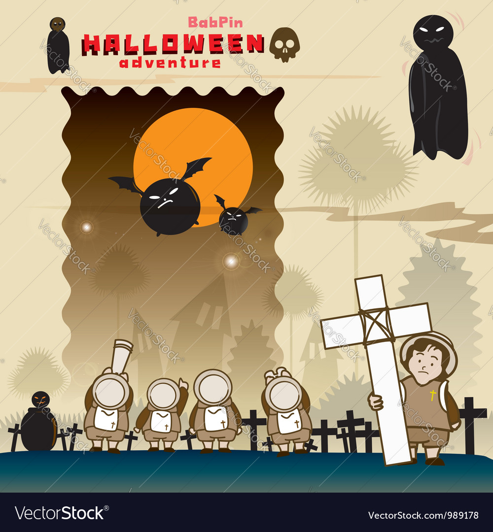 BabPin Halloween SHOW vector image