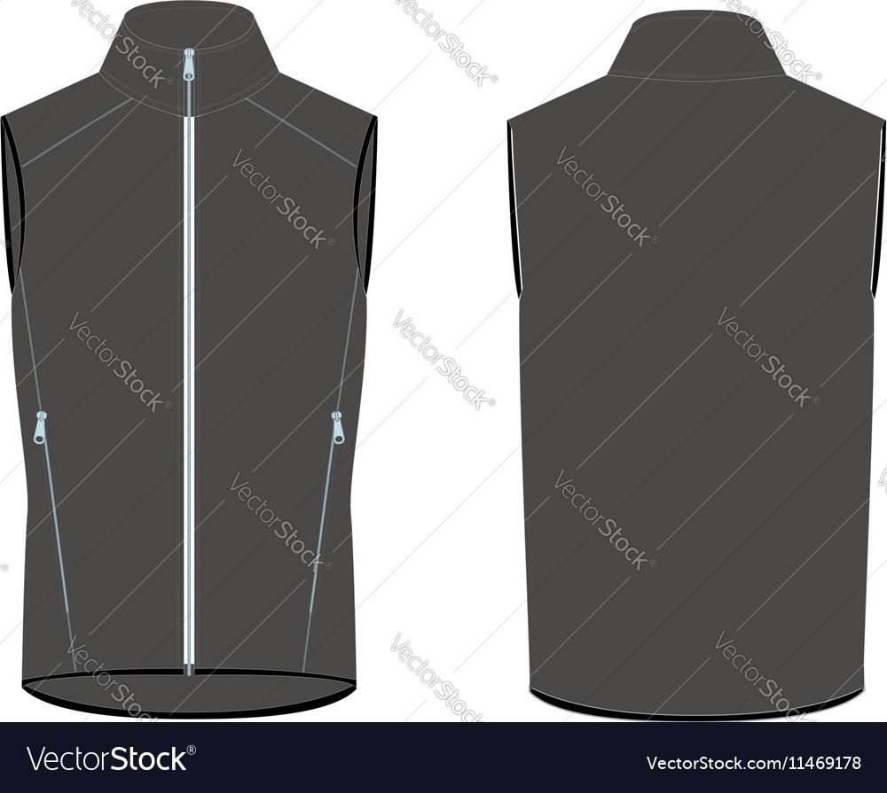 Mens vest 2d flat vector image