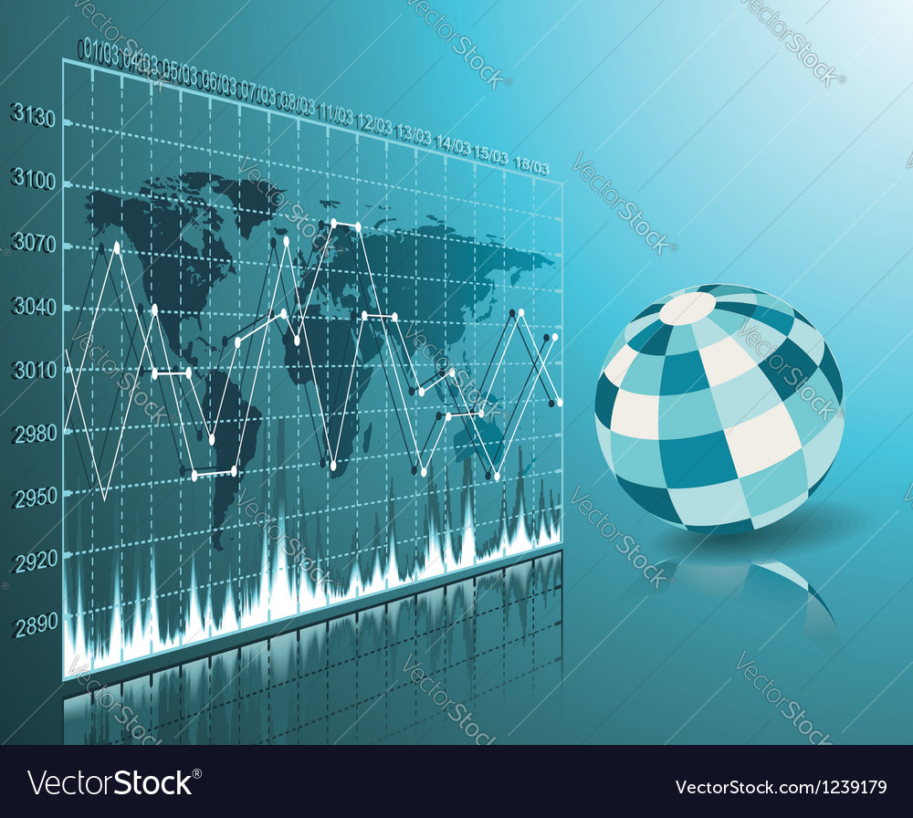 Blue globe on the digital technology background vector image