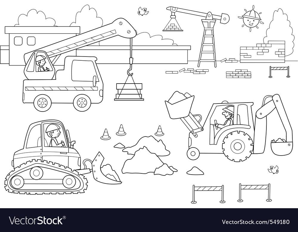 Busy dockyard vector image