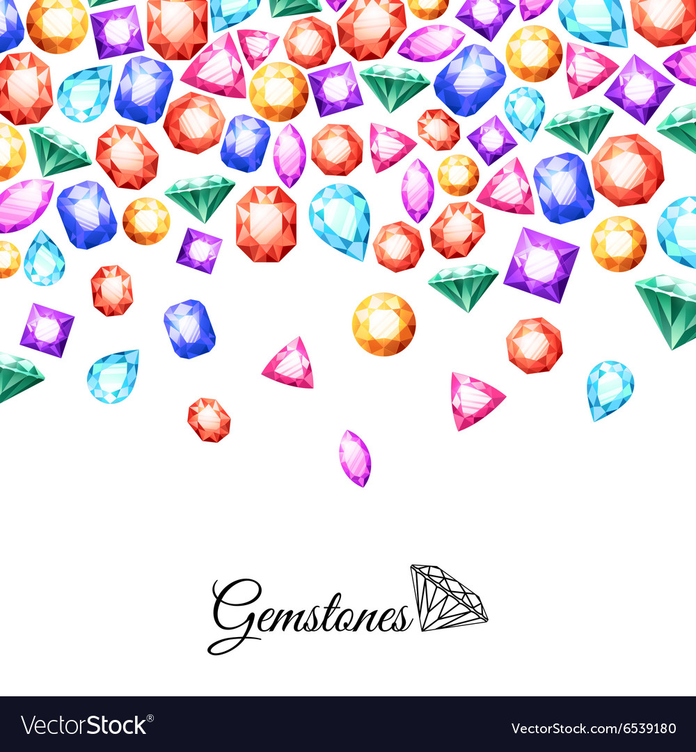 Gemstones Background vector image