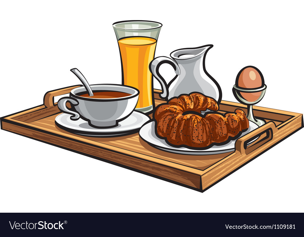 Breakfast in hotel vector image