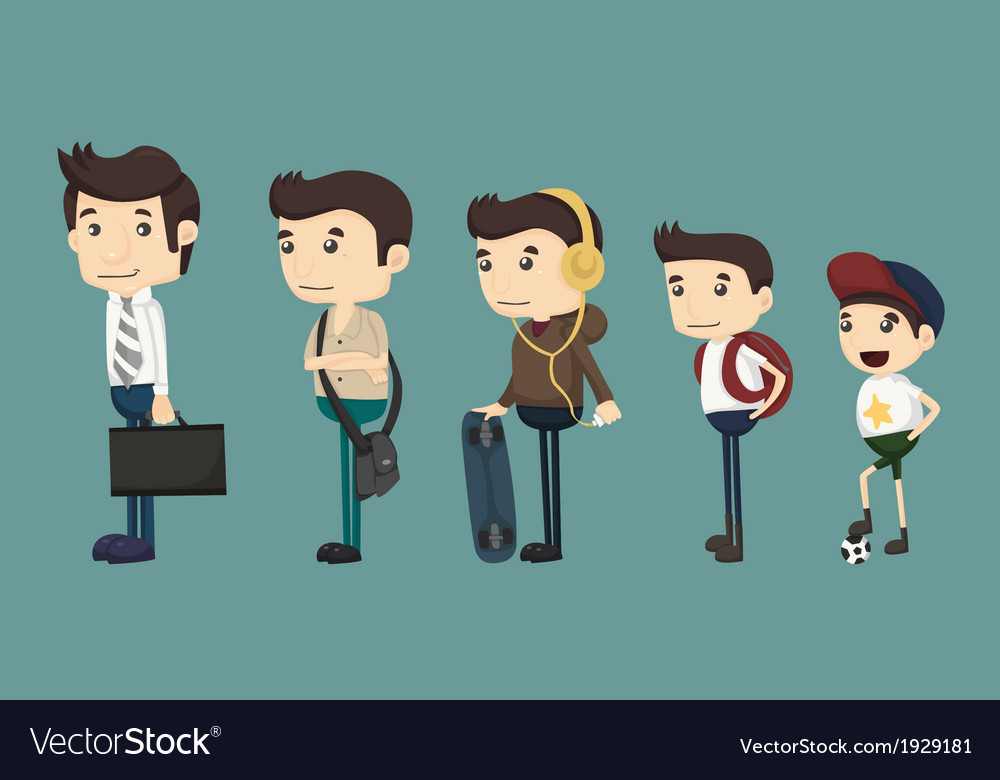 Evolution of man from child vector image