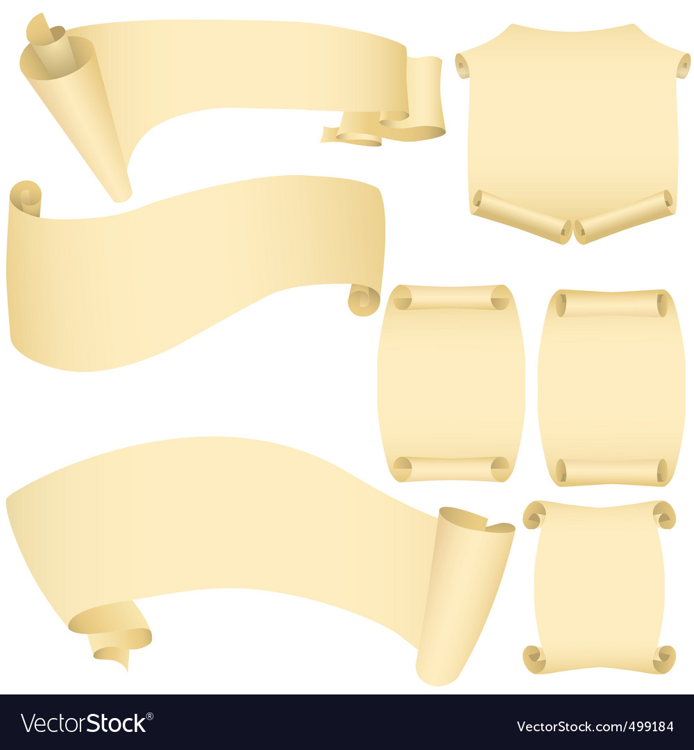 Scroll vector image