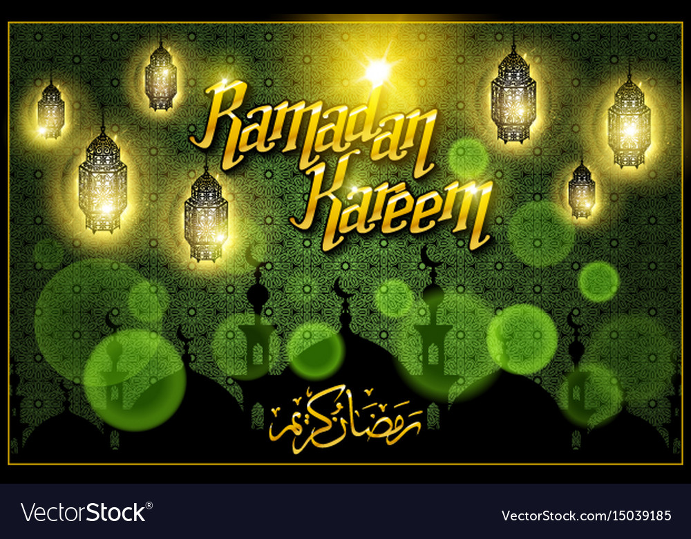 Greeting card on green background vector image