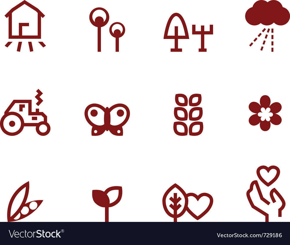 Agriculture - farming icons Vector Image
